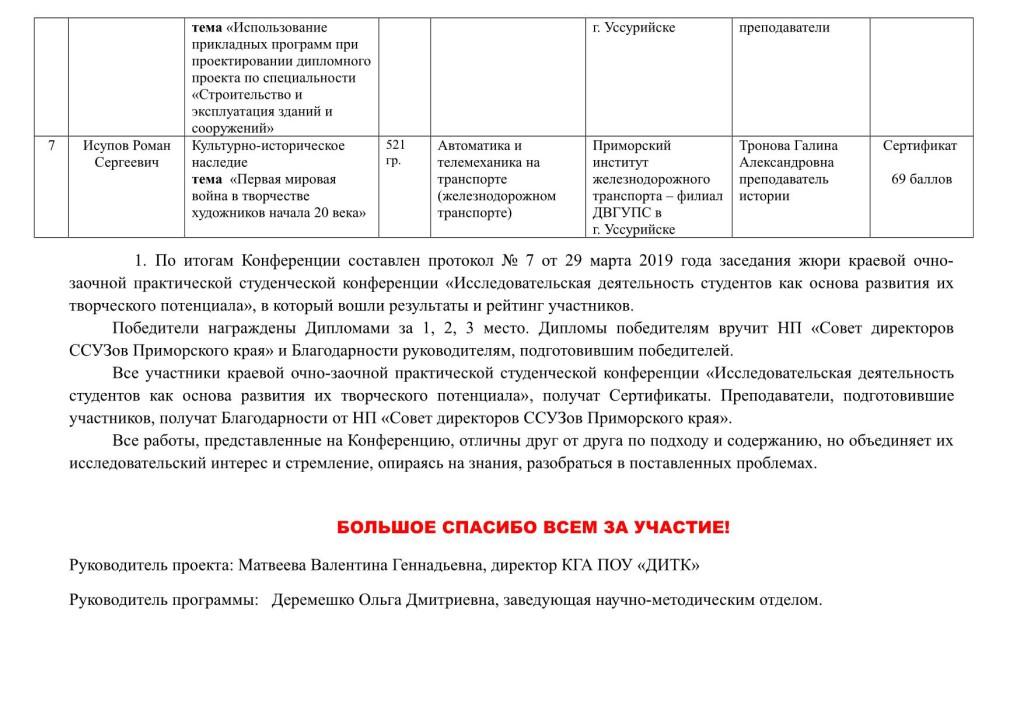 Отчет о проведении конференции КГА ПОУ ДИТК_3